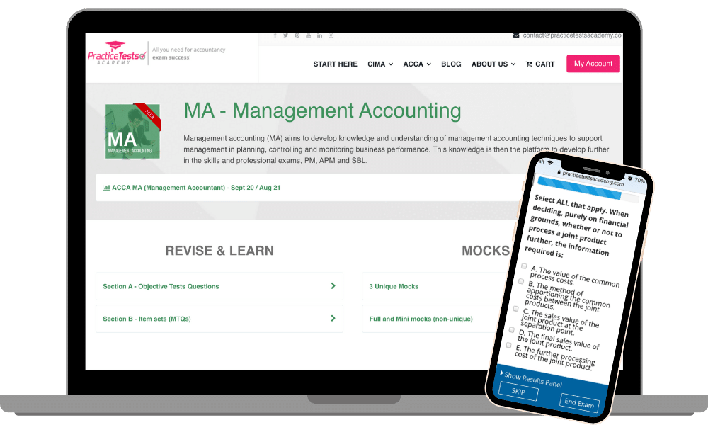 ACCA MA Management Accounting free questions