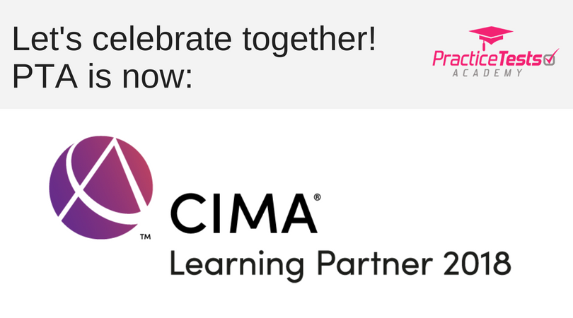 PTA is now officially the CIMA learning partner