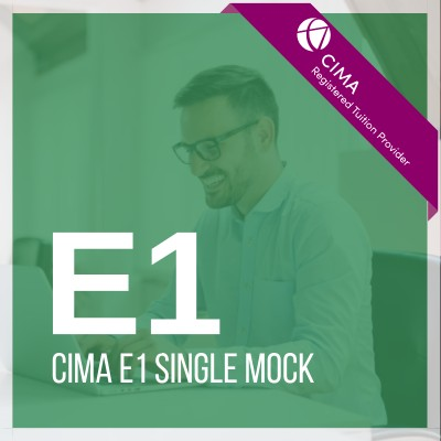CIMA E1 Single Mock 2019