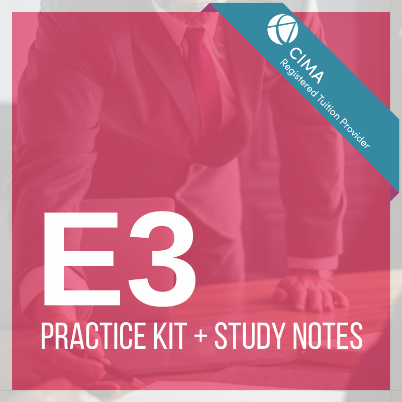 CIMA E3 Practice Kit 2019 + Study Notes