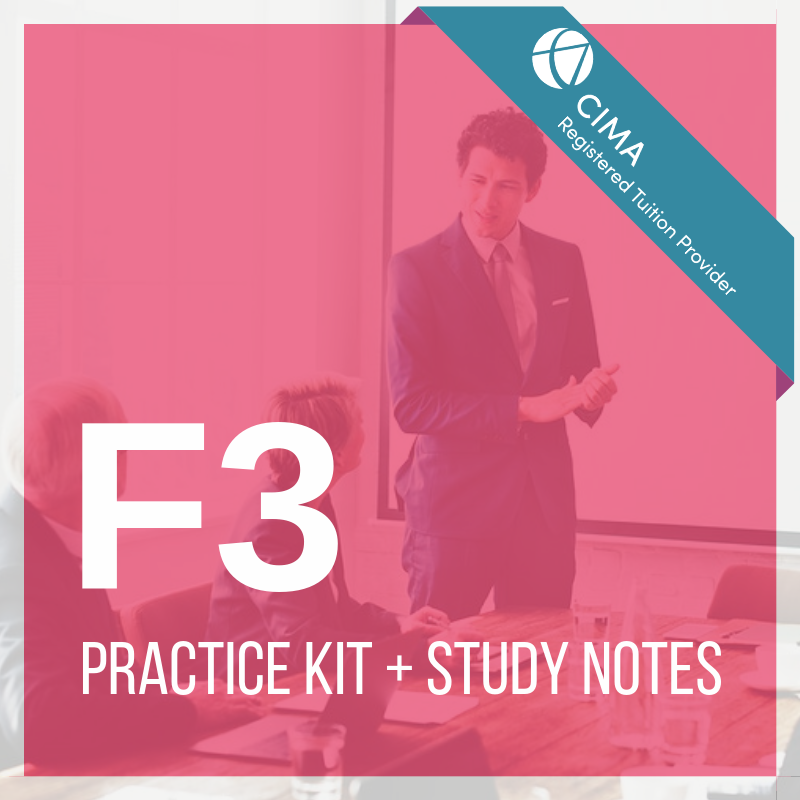 CIMA F3 Practice Kit 2019 + Study Notes